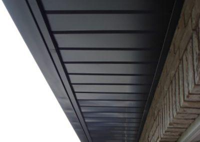 Dakoversteek aluminium - tand en groef panelen