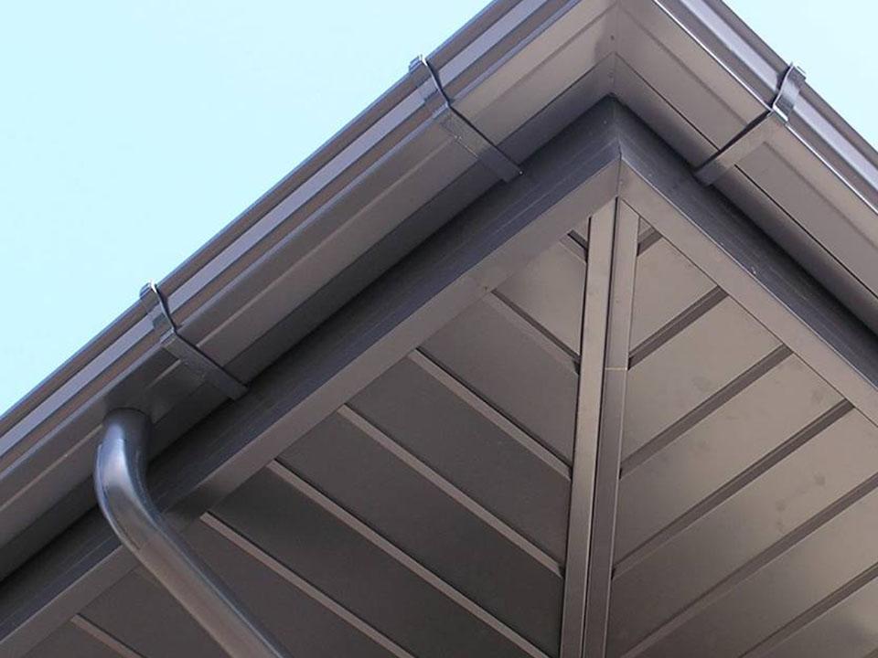 Avant-toits en aluminium
