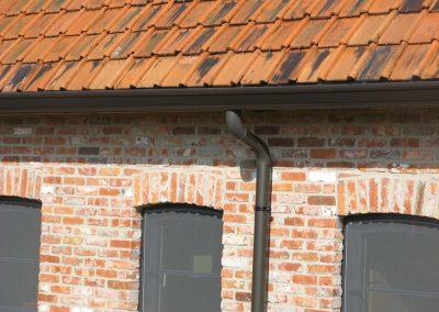 Aluminium goot en regenpijp donker grijs - naadloos - Alustar - West-Vlaanderen
