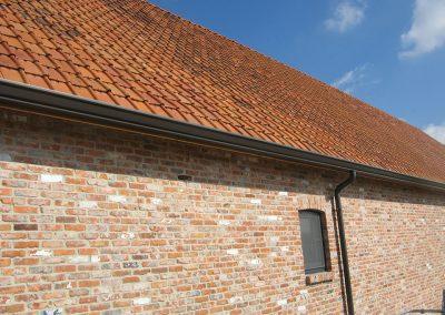Aluminium goot en regenpijp landelijke woning - naadloos - Alustar - West-Vlaanderen