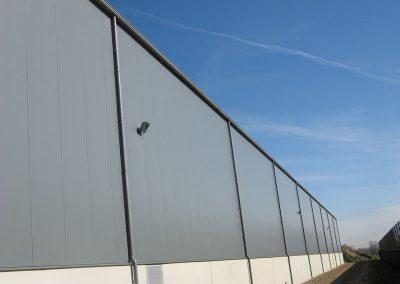 Industriebouw Oost-Vlaanderen - Zwevezele - aluminium regenafvoer en dakgoten