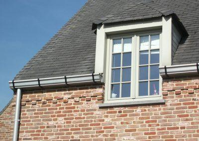 Klassieke dakgoot aluminium - woning pastorijstijl - West-Vlaanderen - Alustar