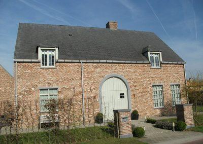 Nieuwbouw dakgoot aluminium - woning pastorijstijl - West-Vlaanderen - Alustar
