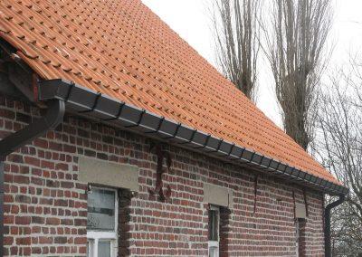 Renovatie dakgoot in aluminium Oost-Vlaanderen Alustar