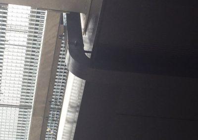 Afvoerbuis in aluminium - dunwandig - zwart