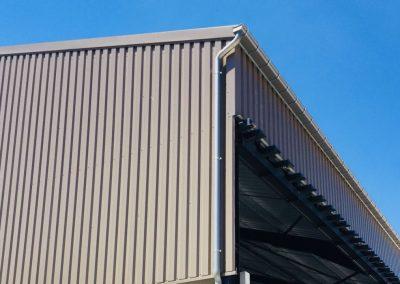 Aluminium dakgoot - hangar - grijs