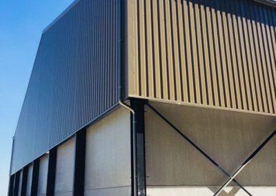 Aluminium regenwaterafvoer met S-bochten