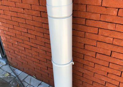 Alu buis D160 regenwaterafvoer